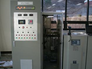 Control Panel for a Vertical Francis Turbine in South Korea